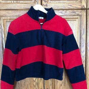 Fleece crop sweater